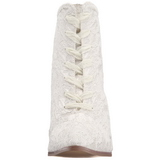 Valkoinen 12 cm VICTORIAN-30 Naisten Nauhalliset Nilkkurit
