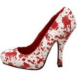 Valkoinen 13 cm BLOODY-12 naisten kengät korkeat korko