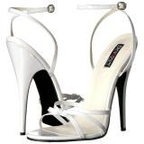 Valkoinen 15 cm DOMINA-108 fetissi piikkikorko sandaalit
