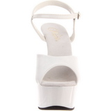 Valkoinen 15 cm Pleaser DELIGHT-609 Korkosandaalit