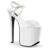 Valkoinen 18,5 cm Devious TRAMP-709 Fetissi Sandaletit Kengät