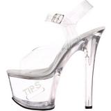 Valkoinen 18 cm TIPJAR-708-5 strippari kengät tankotanssi sandaletit