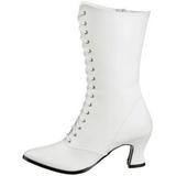 Valkoinen 7 cm VICTORIAN-120 Naisten Nauhalliset Nilkkurit