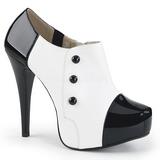 Valkoinen Kiiltonahka 13,5 cm CHLOE-11 suuret koot avokkaat kengät