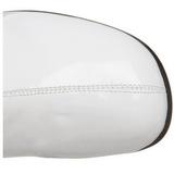 Valkoinen Kiiltonahka 5 cm RETRO-300 Naisten Korkosaappaat