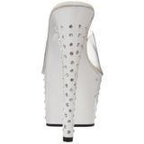 Valkoinen Kristalli Platform 18 cm STARDUST-701 Korkeakorkoiset Muulit Kengät