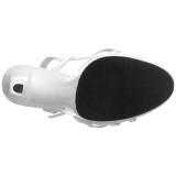 Valkoinen Lakatut 12 cm FLAIR-420 Naisten Sandaletit Korkea