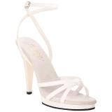 Valkoinen Lakatut 12 cm FLAIR-436 Naisten Sandaletit Korkea