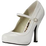 Valkoinen Lakatut 12 cm PRETTY-50 Pumps Naisten Kengät