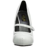 Valkoinen Lakatut 12 cm retro vintage CUTIEPIE-02 avokkaat mary jane kengät piilotettu platform
