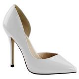 Valkoinen Lakatut 13 cm AMUSE-22 klassiset avokkaat kengät naisten