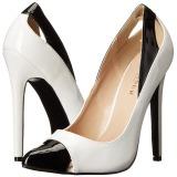 Valkoinen Lakatut 13 cm SEXY-22 klassiset avokkaat kengät naisten