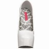 Valkoinen Lakka 14,5 cm Burlesque BORDELLO TEEZE-06 Platform Avokkaat Kengät