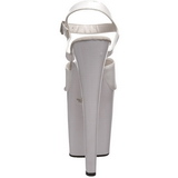 Valkoinen Lakka 20 cm Pleaser XTREME-809 Korkosandaalit Platform