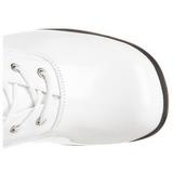Valkoinen Lakka 5 cm RETRO-302 Naisten Nauhasaappaat