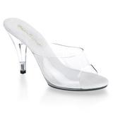 Valkoinen Läpinäkyvä 11 cm CARESS-401 Korkeakorkoiset Muulit Kengät