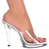 Valkoinen Läpinäkyvä 12 cm FLAIR-401 Korkeakorkoiset Muulit Kengät