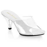 Valkoinen Läpinäkyvä 8 cm BELLE-301 Korkeakorkoiset Muulit Kengät