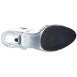 Valkoinen Läpinäkyvä 8 cm Pleaser BELLE-308 Korkokengillä