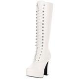 Valkoinen Matta 13 cm Pleaser ELECTRA-2020 Platform Naisten Saappaat