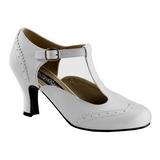 Valkoinen Matta 7,5 cm retro vintage FLAPPER-26 Naisten kengät avokkaat