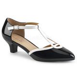 Valkoinen Musta 5 cm FAB-428 suuret koot avokkaat kengät