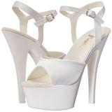 Valkoinen Neon 15 cm Pleaser KISS-209UV Platform Sandaletit