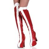 Valkoinen Punainen 13 cm ELECTRA-2090 korokepohja pitkät saappaat
