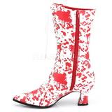 Valkoinen Punainen 7 cm VICTORIAN-120BL Naisten Nauhalliset Nilkkurit