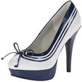 Valkoinen Sininen 13 cm LOLITA-13 Naisten juhlakengät
