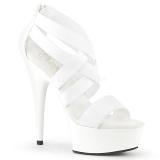 Valkoinen joustava nauha 15 cm DELIGHT-669 korokepohjaiset pleaser kengät