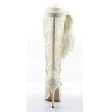 Valkoinen pitsi kangas 13 cm AMUSE-2012 Korkeat Saappaat Naisten