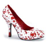 Valkoiset 13 cm BLOODY-12 naisten kengät korkeat korko