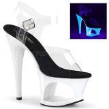Valkoiset 18 cm MOON-708UV Sandaalit Neon Platform