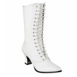 Valkoiset 7 cm VICTORIAN-120 Naisten Nauhalliset Nilkkurit