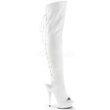Valkoiset Keinonahka 15 cm DELIGHT-3019 reisisaappaat korkokengät