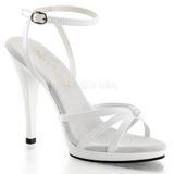 Valkoiset Lakatut 12 cm FLAIR-436 Naisten Sandaletit Korkea