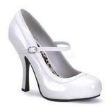 Valkoiset Lakatut 12 cm rockabilly PRETTY-50 Naisten kengät avokkaat