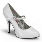 Valkoiset Lakatut 12 cm rockabilly TEMPT-35 Naisten kengät avokkaat