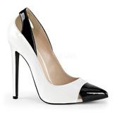 Valkoiset Lakatut 13 cm SEXY-22 klassiset avokkaat kengät naisten