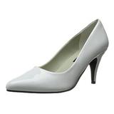 Valkoiset Lakatut 7,5 cm PUMP-420 klassiset avokkaat kengät naisten