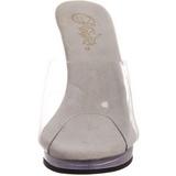 Valkoiset Läpinäkyvä 12 cm FLAIR-401 Korkeakorkoiset Muulit Kengät