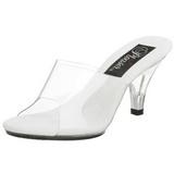 Valkoiset Läpinäkyvä 8 cm BELLE-301 Korkeakorkoiset Muulit Kengät