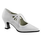 Valkoiset Matta 7 cm retro vintage VICTORIAN-03 Naisten kengät avokkaat