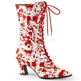Valkoiset Punaiset 7 cm VICTORIAN-120BL Naisten Nauhalliset Nilkkurit