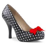 Valkoista Pistettä 11,5 cm PINUP-05 suuret koot avokkaat kengät