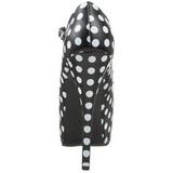 Valkoista Pistettä 14,5 cm Burlesque TEEZE-08 Musta Avokkaat Kengät