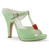Vihreä 10 cm SIREN-09 Korkeakorkoiset Muulit Kengät
