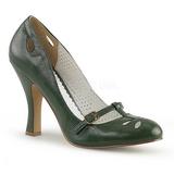 Vihreä 10 cm SMITTEN-20 Pinup avokkaat kengät alhainen korot