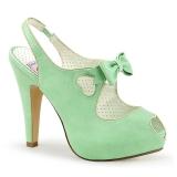 Vihreä 11,5 cm retro vintage BETTIE-03 Pinup avokkaat kengät piilotettu platform
